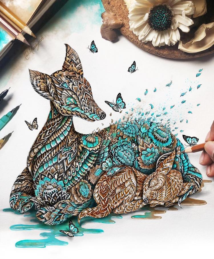 Zentangle Fantasy Art by Mahi Abdul Maahy's Art