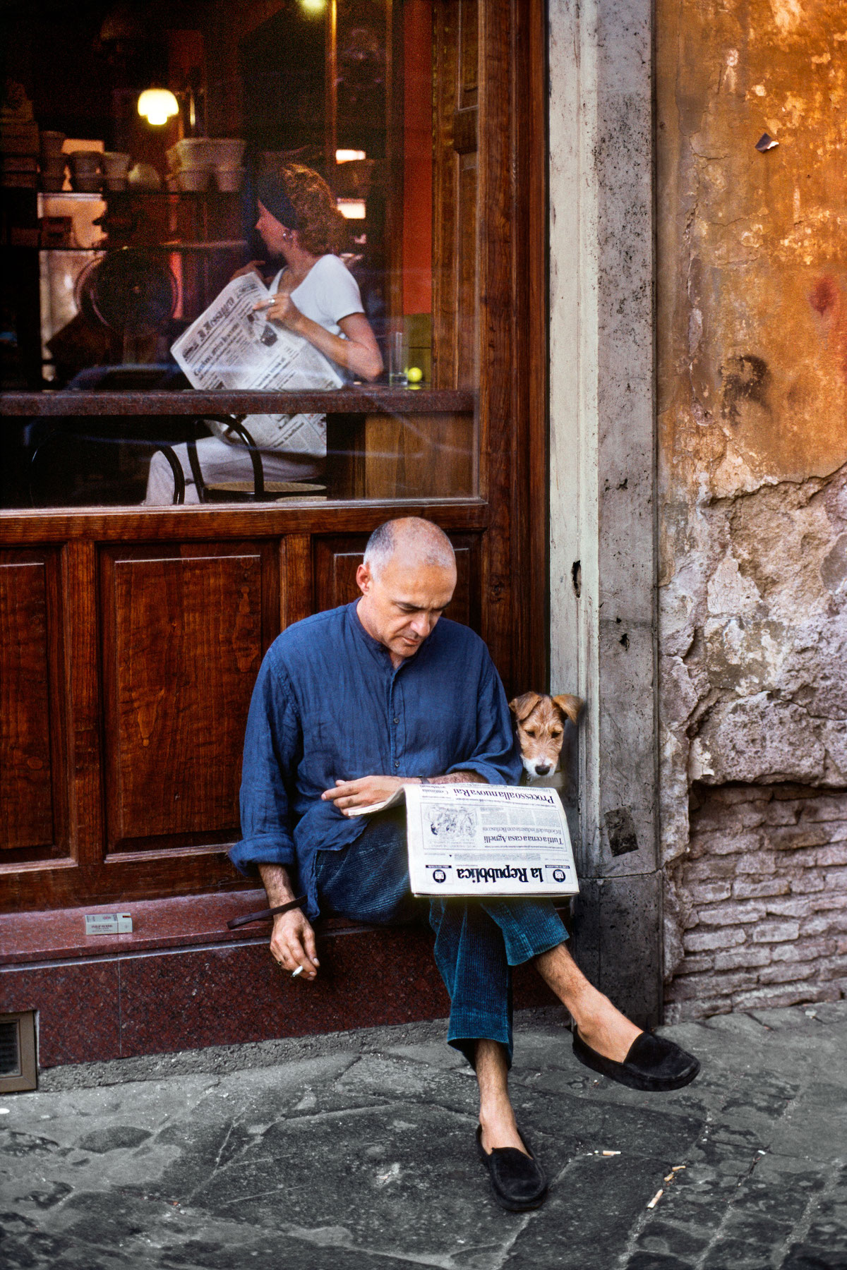 Man and his Dog in Rome by Steve McCurry