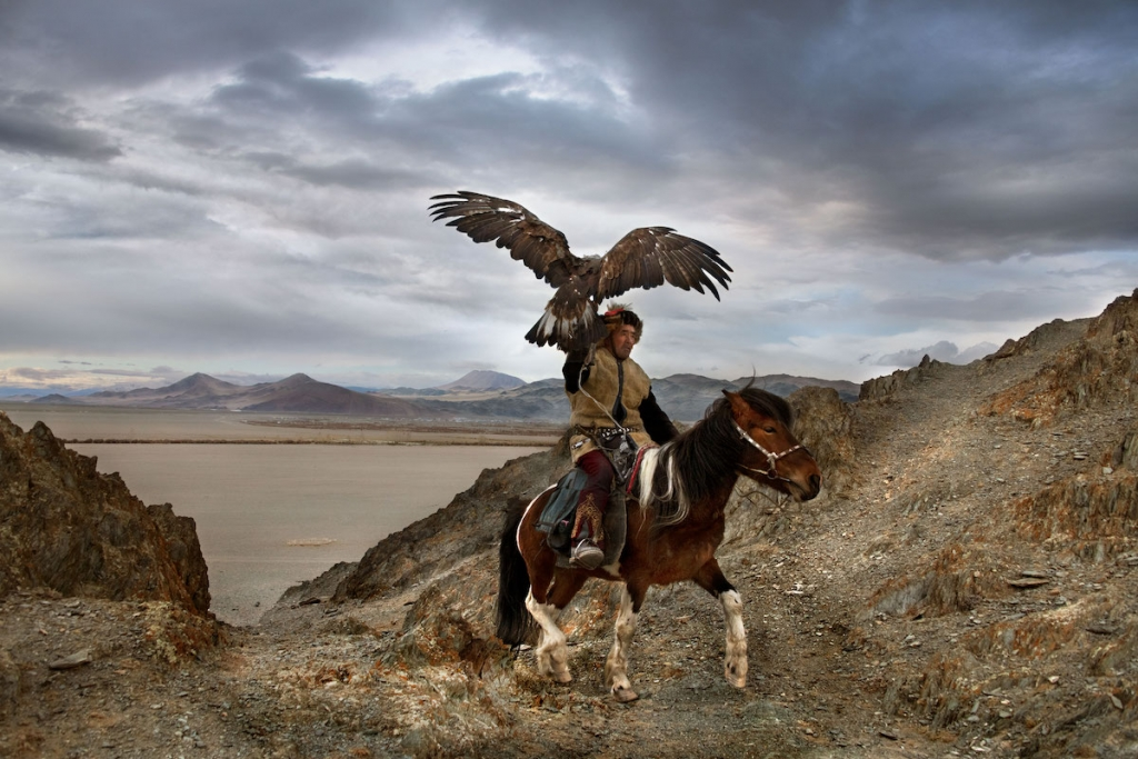 Man with His Falcon in Mongolia by Steve McCurry