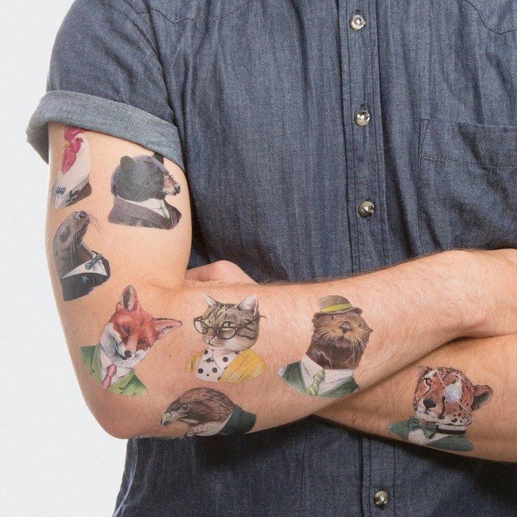 Animal Temporary Tattoo Set