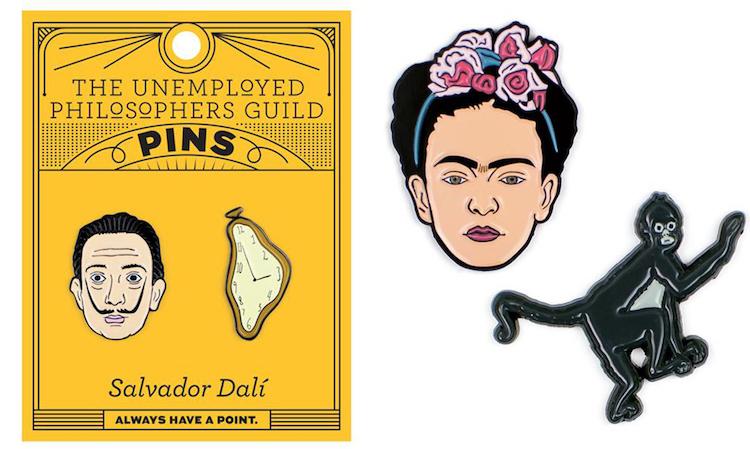 Dali and Frida Artist Enamel Pins
