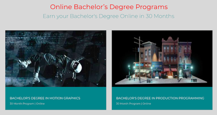 Online Bachelor's Degree in Motion Graphics