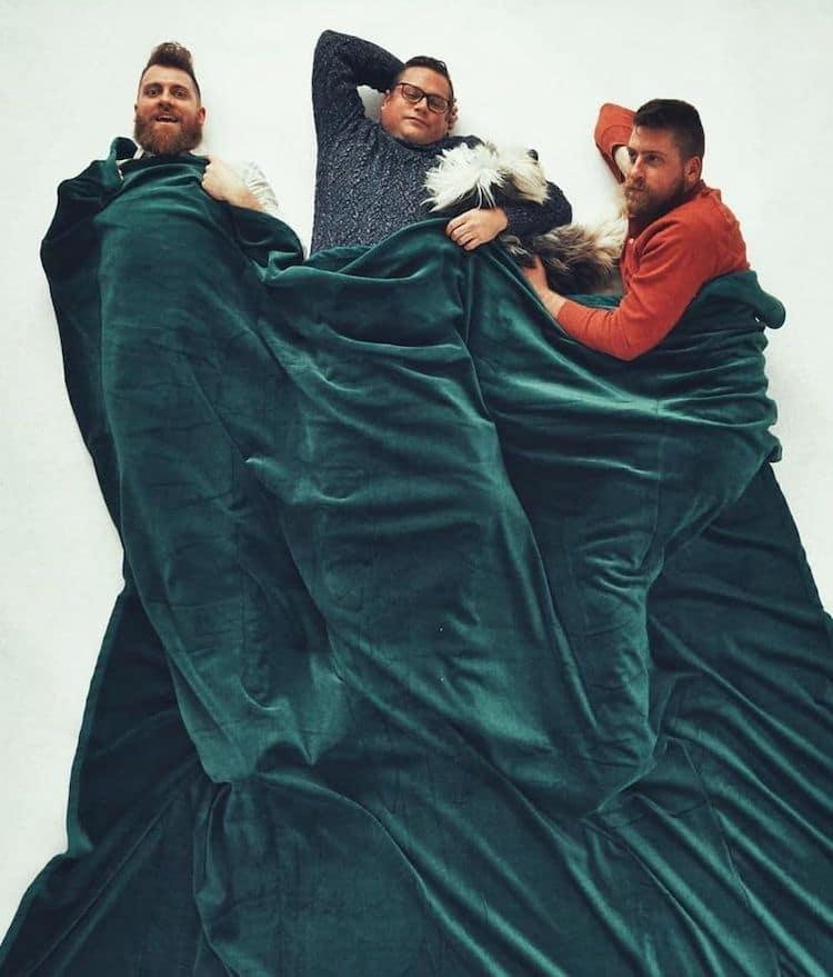 Men in Blankets