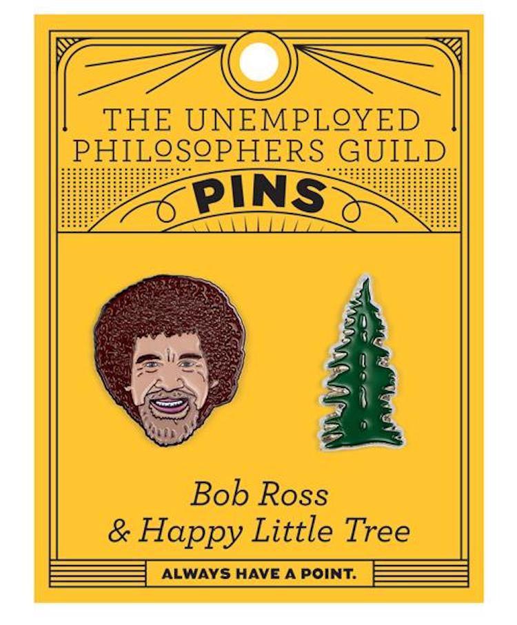 Bob Ross Enamel Pin Set