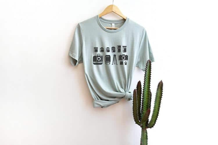 Camiseta unisex de kit de fotografía