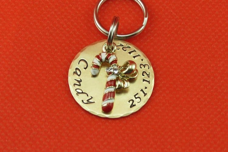 Candy Cane Dog Tag