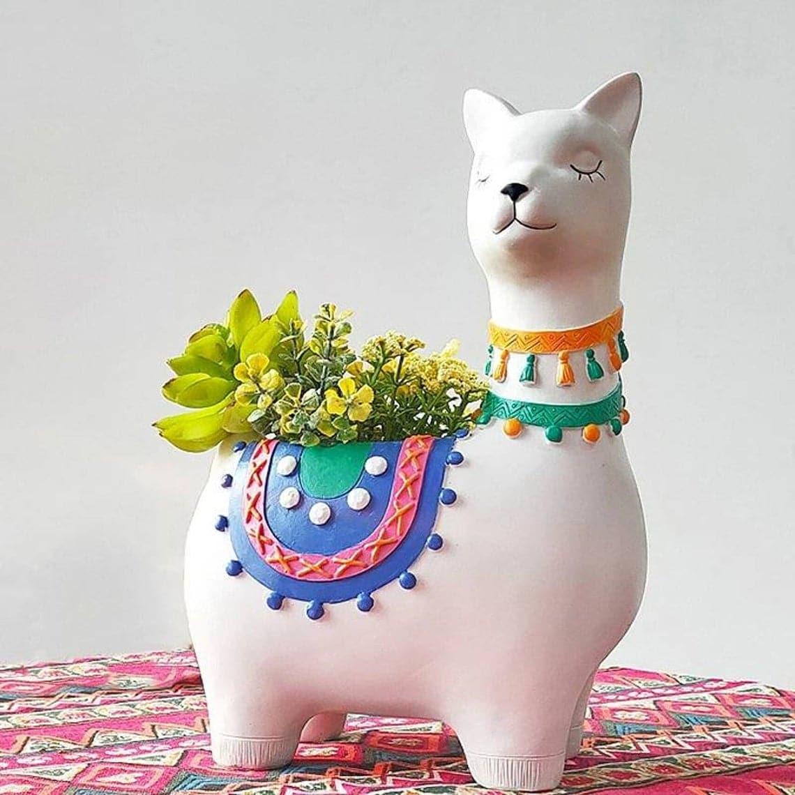 Ceramic Llama Planter