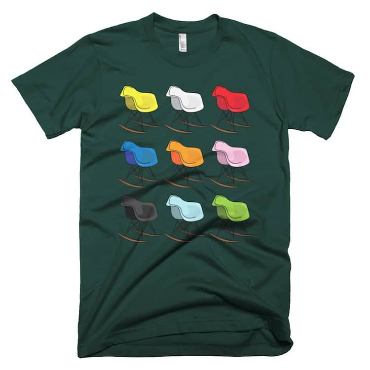 Charles Eames Color Rocking Chairs Shirt