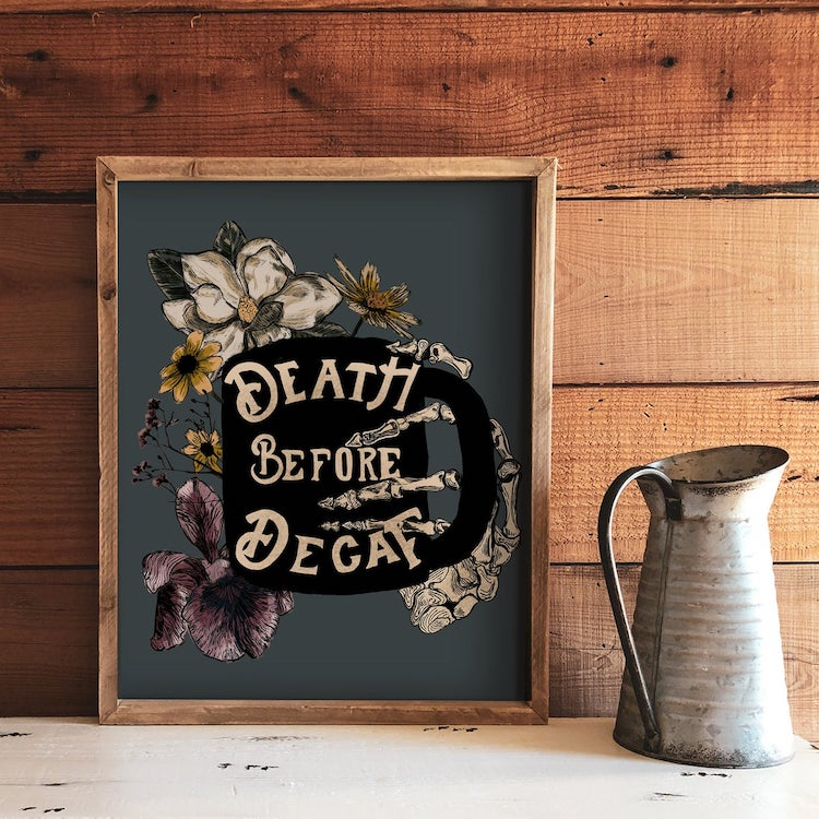 Death Before Decaf Poster