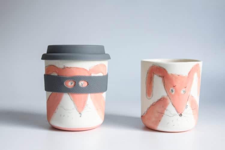 Animal Superhero Ceramic Travel Cup