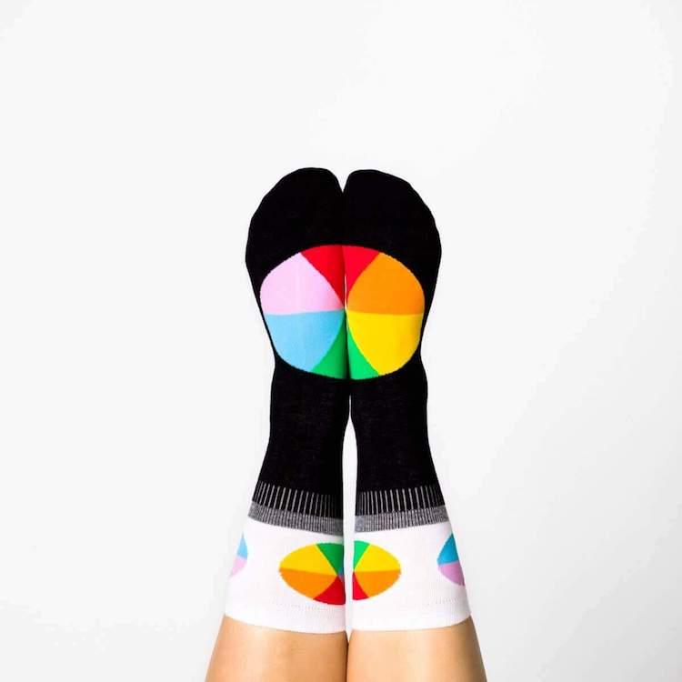 Color Wheel Womens Socks