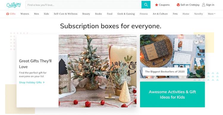 Cratejoy cajas de suscripciones