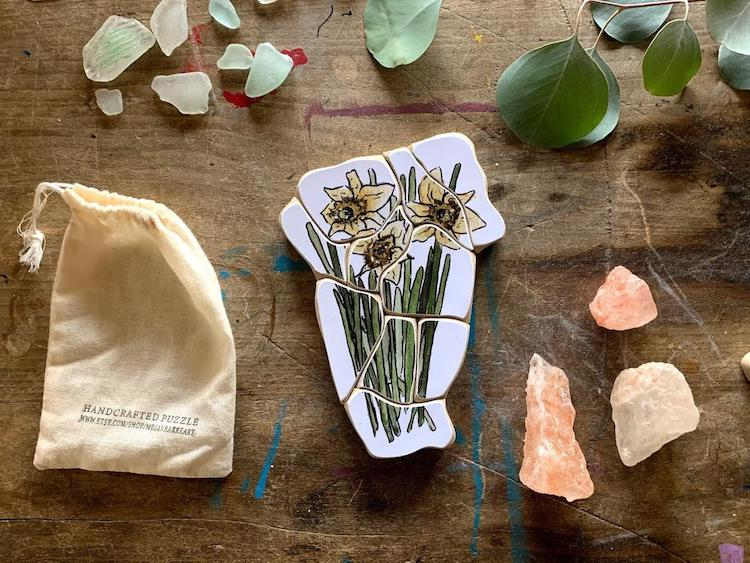 Rompecabezas de flores