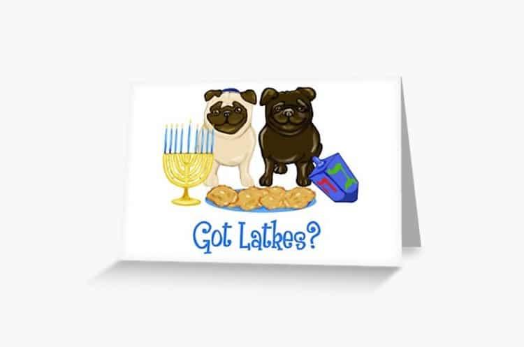 Hanukkah Card for Dog Lovers