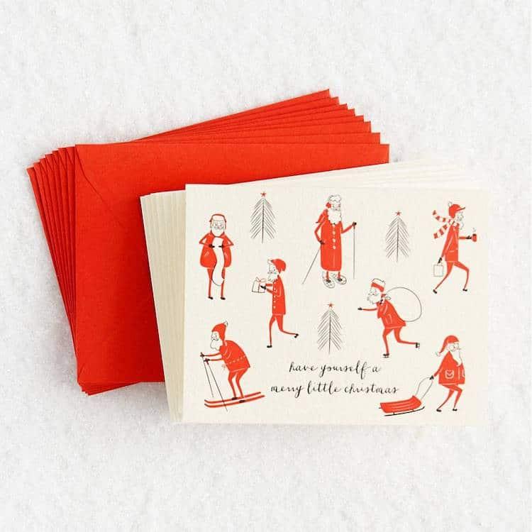 Skinny Santa Holiday Card