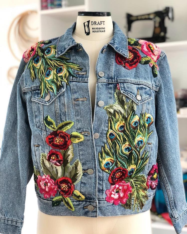 Custom Embroidered Jackets by Ana Maria Restrepo Amarpo