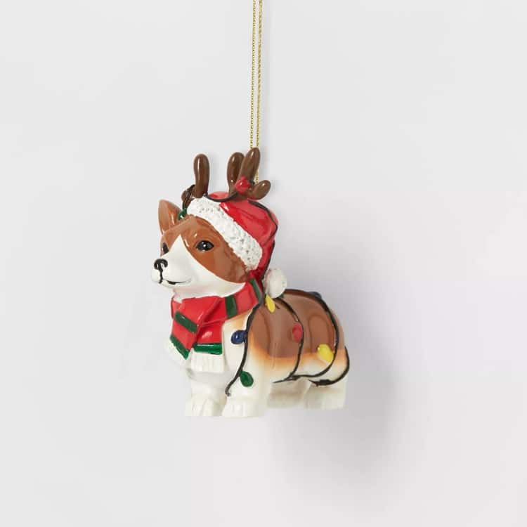 Cute Corgi Christmas Ornament
