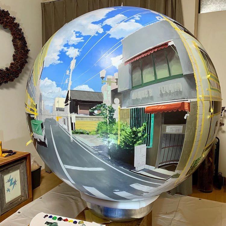 Pintura de los suburbios de Japón por Daisuke Samejima