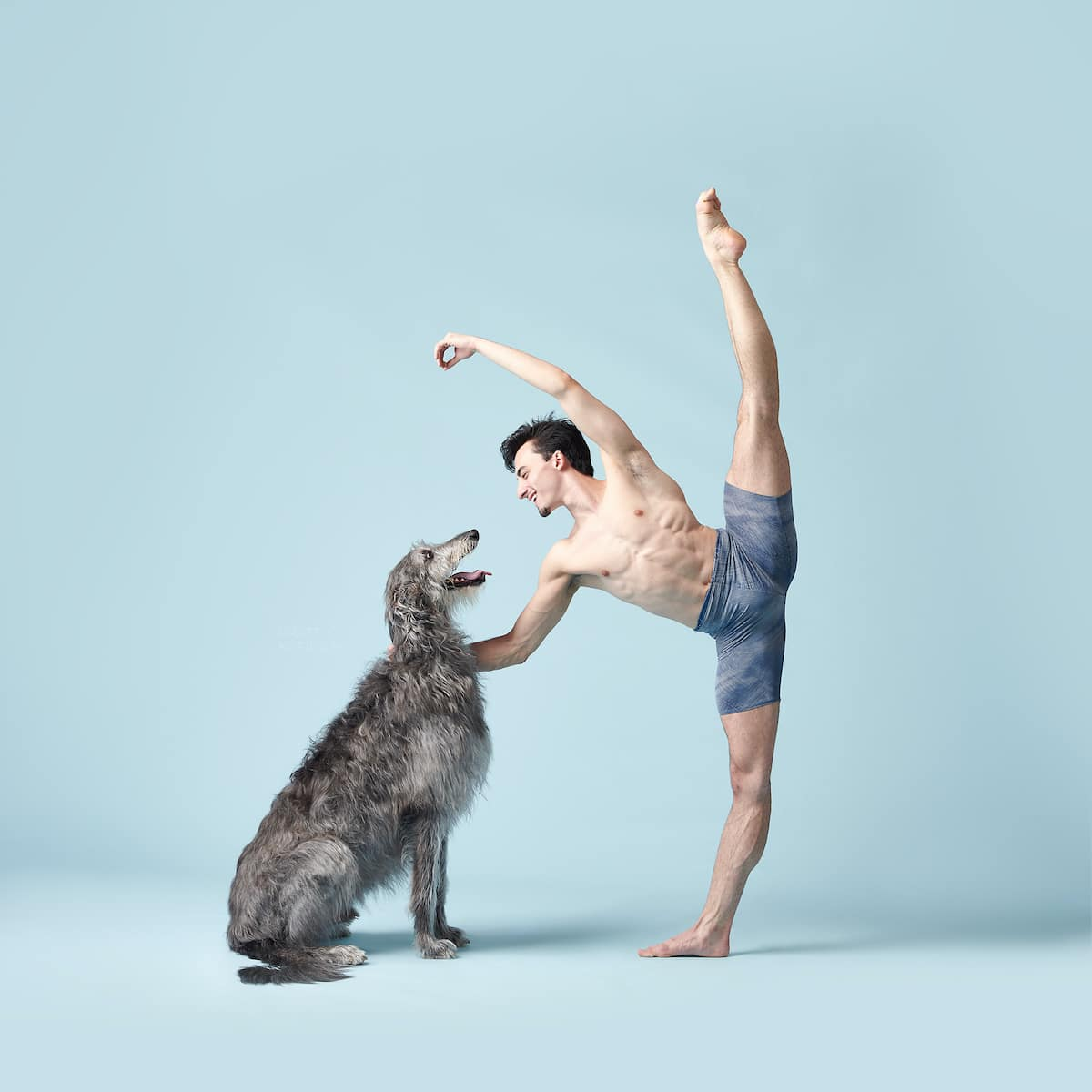 Ballet Dancer and Dog