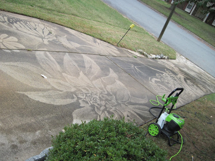 Driveway Pressure Washer Art