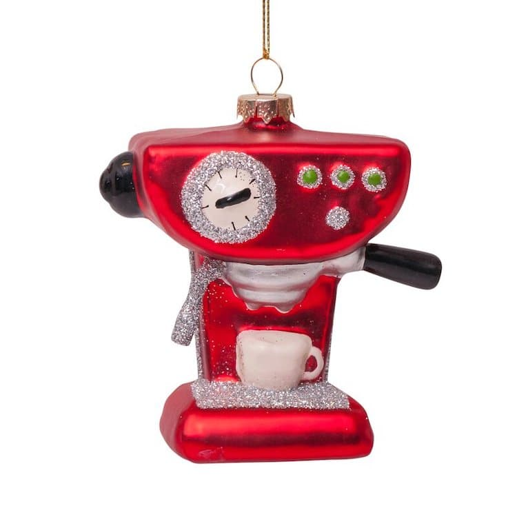 Espresso Machine Christmas Ornament