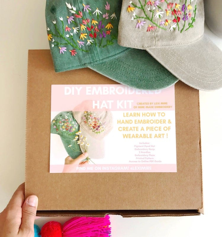 Hat Embroidery Kit
