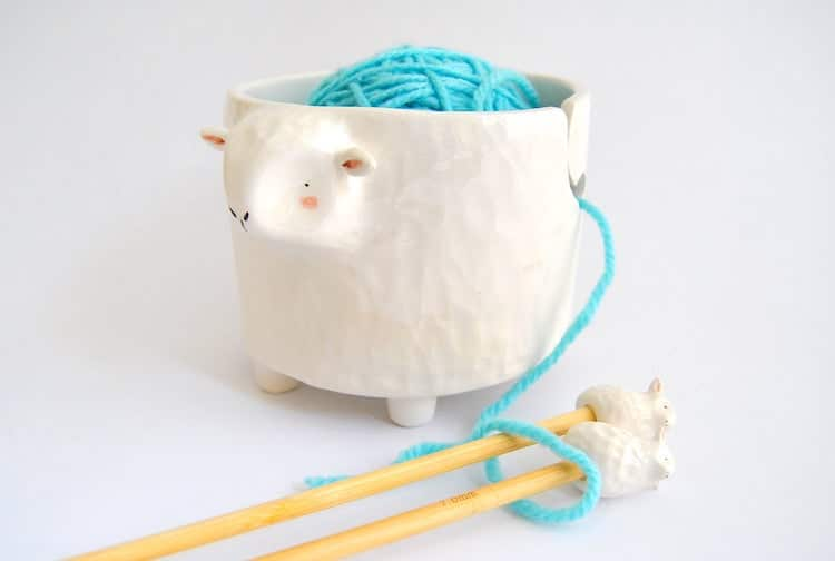 Ceramic Sheep Yarn Bowl