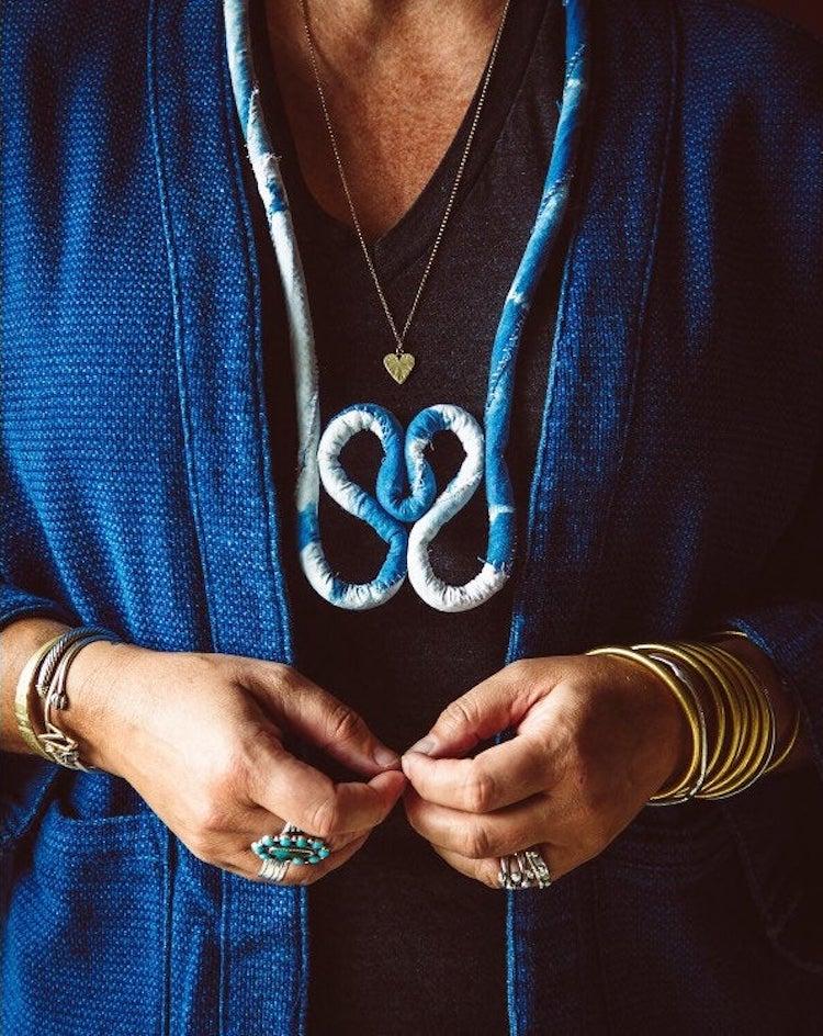 Shibori Necklace on Etsy