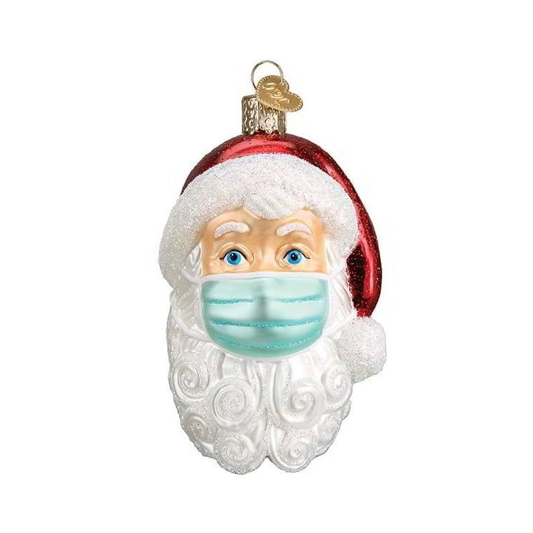 Face Mask Santa Christmas Ornament