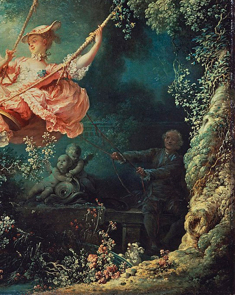 The Swing Painting By Fragonard Detail