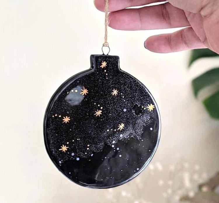 Galaxy Ceramic Christmas Ornament