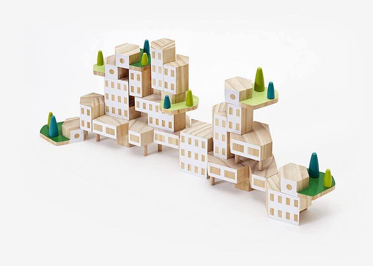 Set de bloques de madera Blockitecture Garden City Mega