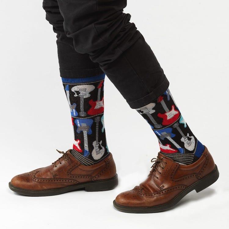 Electric Guitar Socks for Men