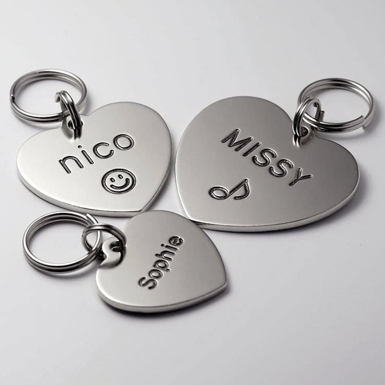 Heart Shaped Dog Tag