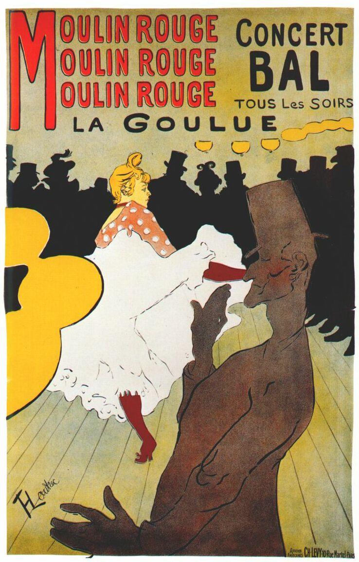 Henri de Toulouse Lautrec - cartel del Moulin Rouge