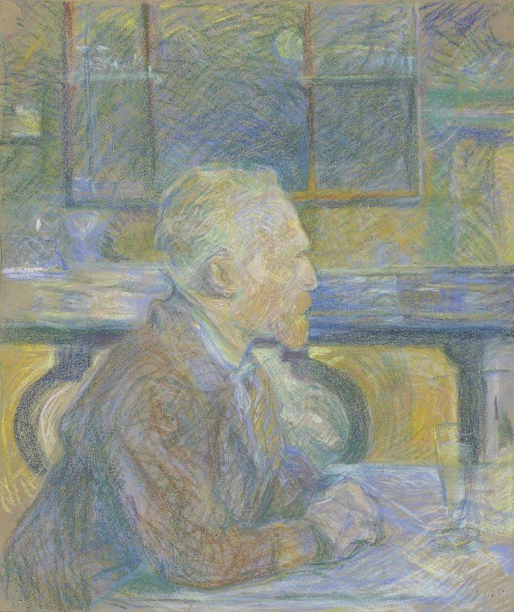 Henri de Toulouse Lautrec - retrato de Van Gogh