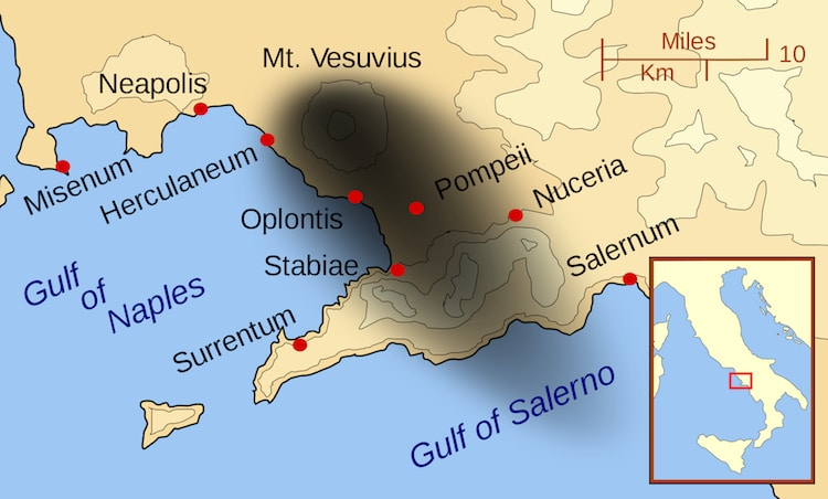 Herculaneum and Pompeii Map