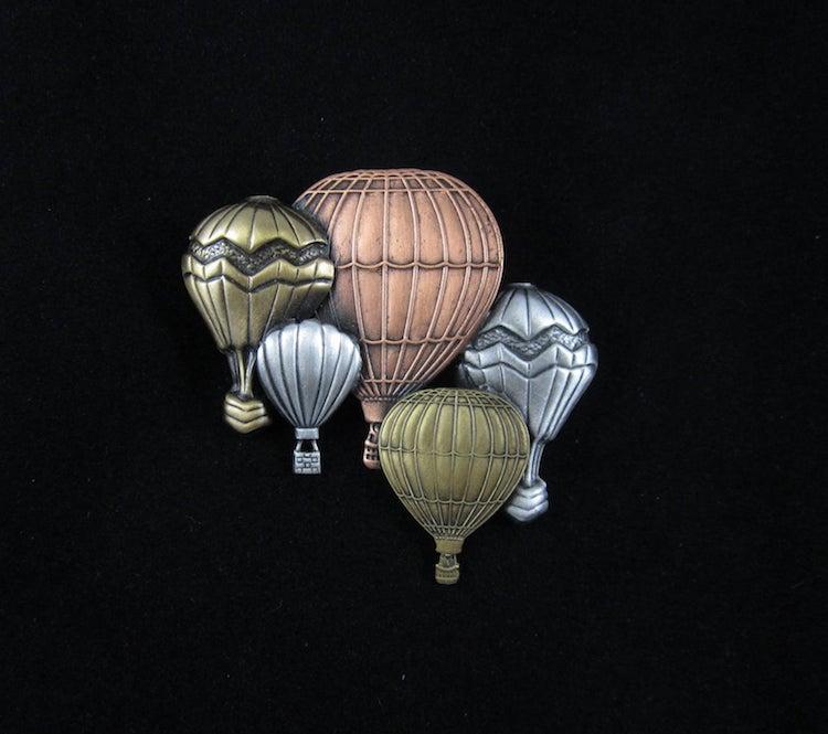 Hot Air Balloons Brooch