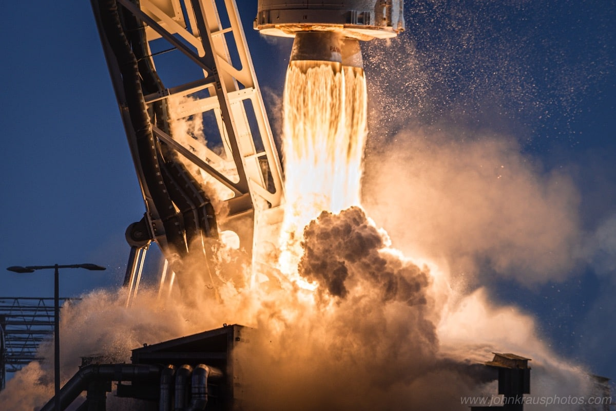 Antares Rocket Taking Off