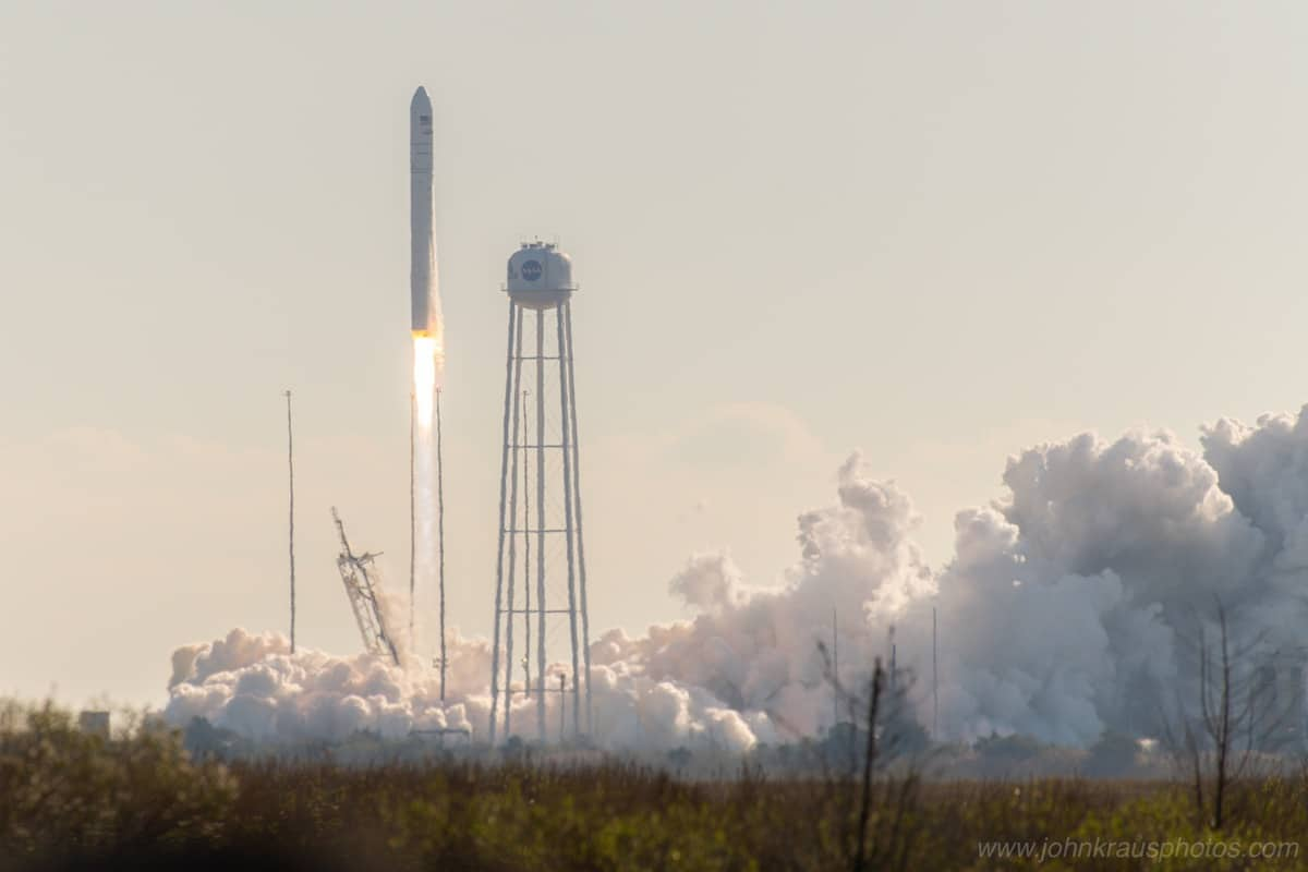 Antares Rocket Taking Off by John Kraus
