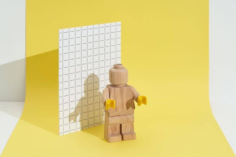Minifigura de madera de LEGO
