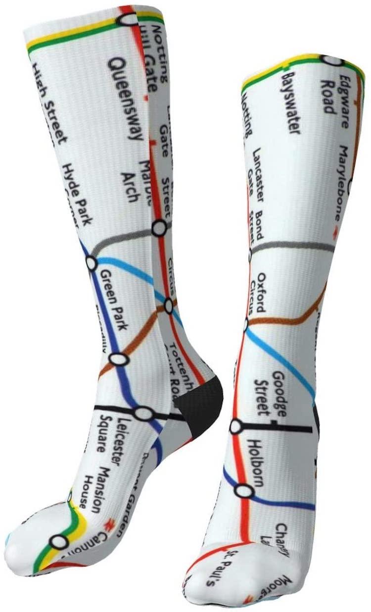 Calcetines del mapa del metro de Londres