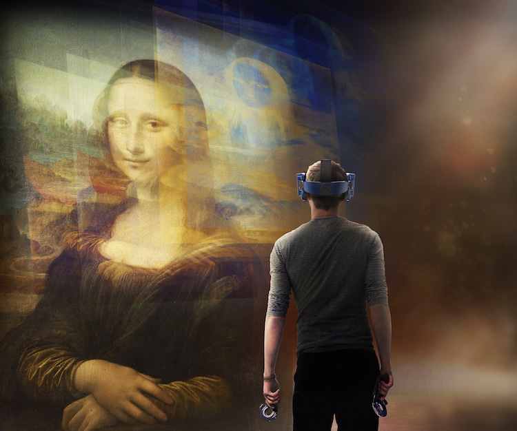 Mona Lisa in Virtual Reality