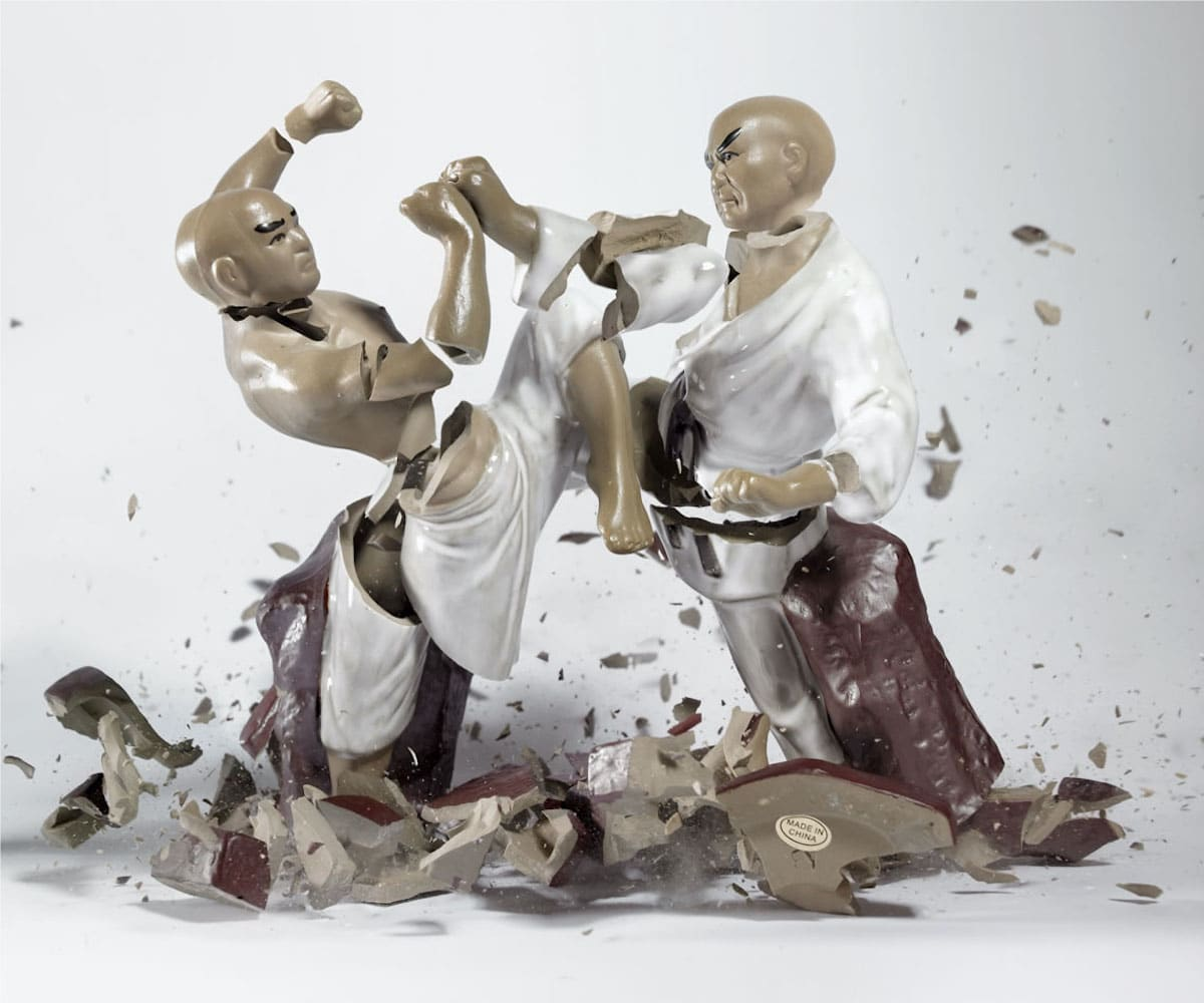 Shattered Porcelain Figurines