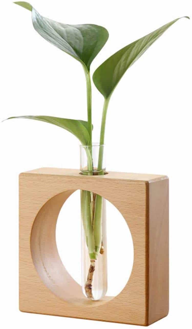 Modern Wood Bud Vase