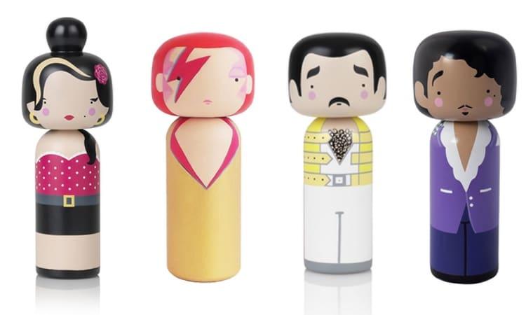 Music Icons Kokeshi Dolls