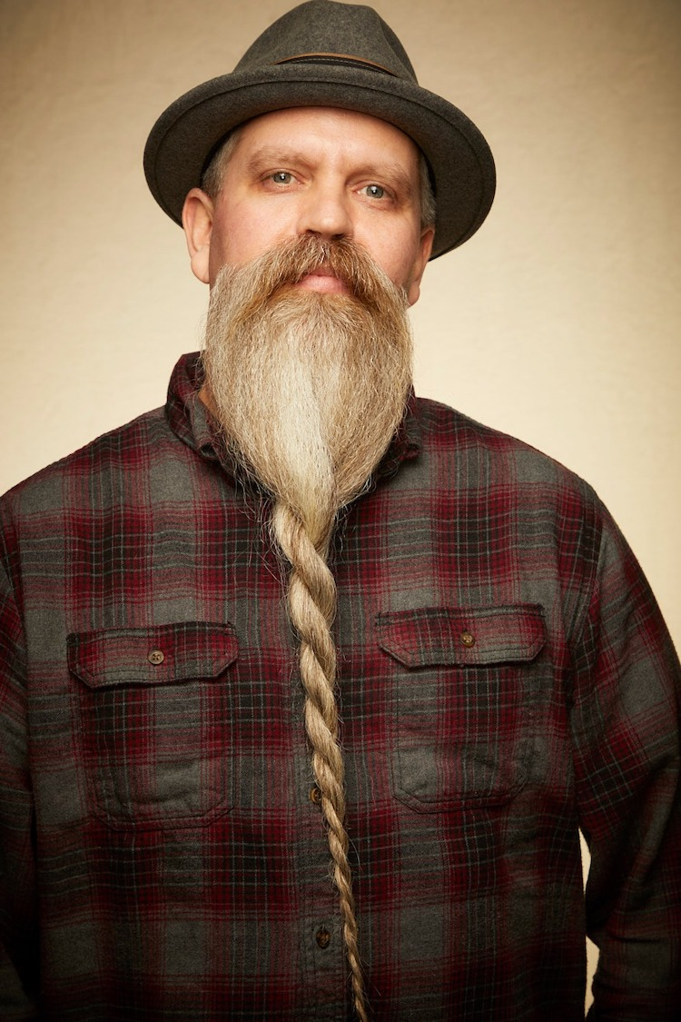 Man with Braided Beard