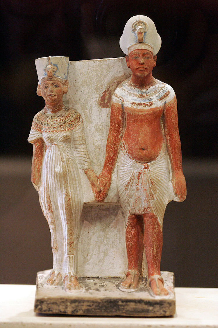 Nefertiti and Akhenaten