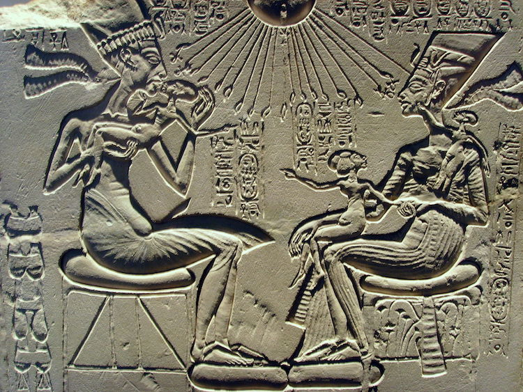 Relief of Nefertiti and Akhenaten and Their Children