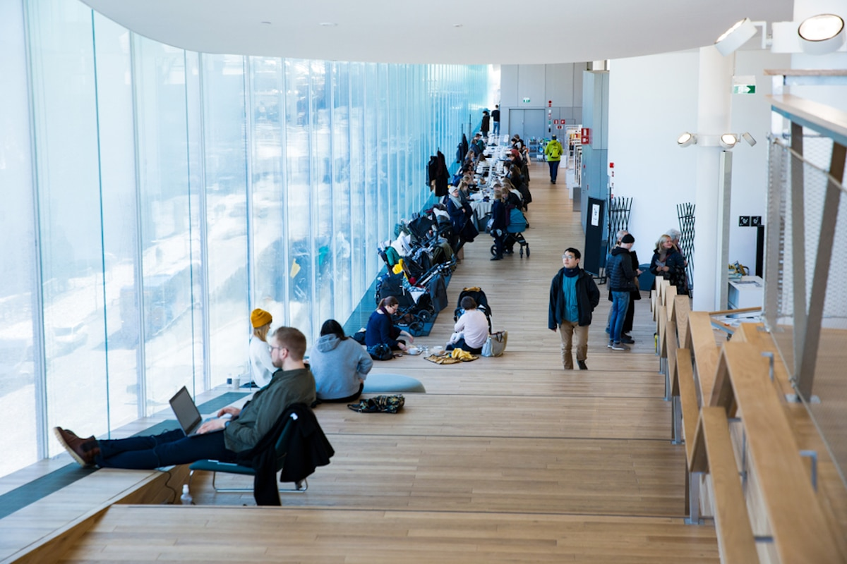 People Reading at the Oodi Library Helsinki